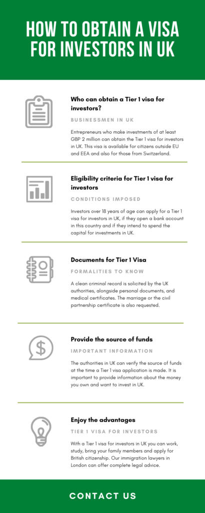 How to obtain a visa for investors in UK
